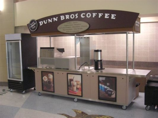 Dunn Brothers Coffee Front View with Fridge